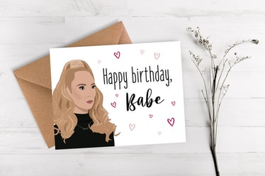 This Keeley Jones birthday card is one of the many 'Ted Lasso' birthday cards on Etsy.