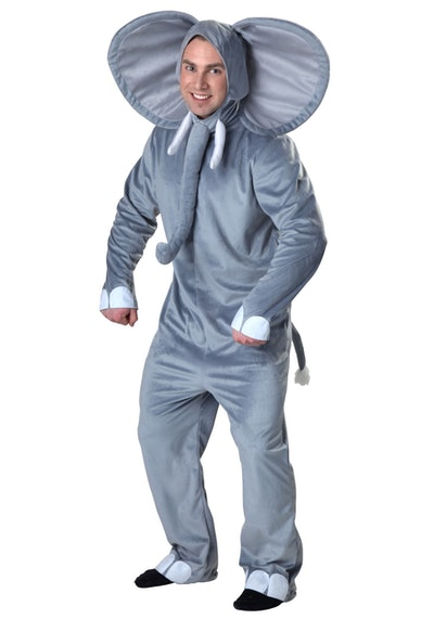 Adult man in an elephant costume