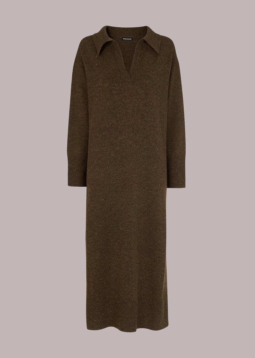 Color Midi Knit Dress