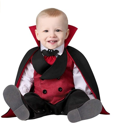 Baby dressed as Dracula