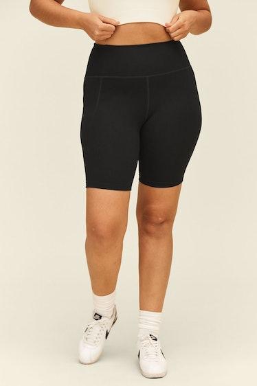 Black High-Rise Bike Short