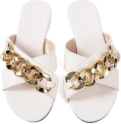 Mtzyoa Flat Decorative Sandals