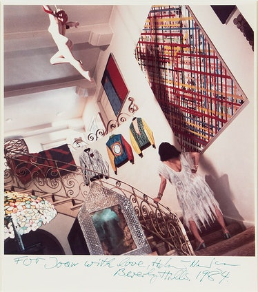 An image of Quinn at her home in Beverly Hills in 1984, from Quinn's personal archive.