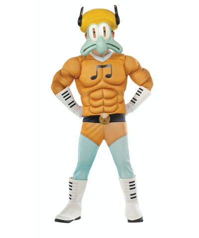 Squidward Muscle Chest Deluxe Child Costume