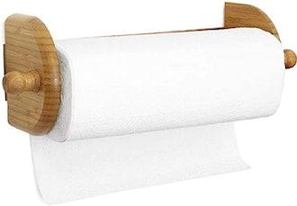 Greenco Premium Bamboo Wall Mount Paper Towel Holder