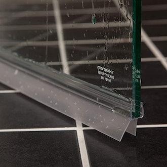 Aulett Home Frameless Shower Door Bottom Seal with Drip Rail