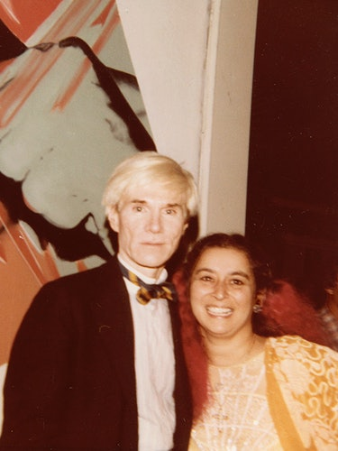 Quinn with Warhol, Los Angeles, 1983.