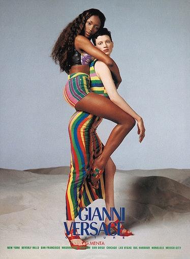 Naomi Campbell and Kristen McMenamy
