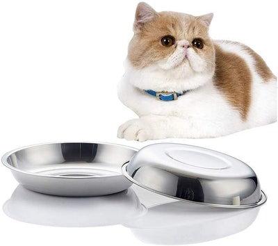 Vention Stainless Steel Whisker-Relief Cat Food Bowl (Set Of 2)