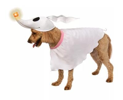 "Dog wearing Zero costume from ""The Nightmare Before Christmas"""