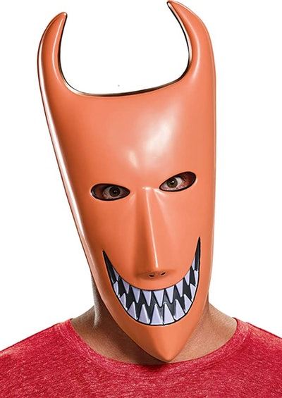"""Man wearing Lock mask from """"The Nightmare Before Christmas"""""""
