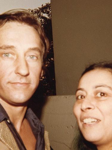Quinn with Ed Ruscha, 1977.