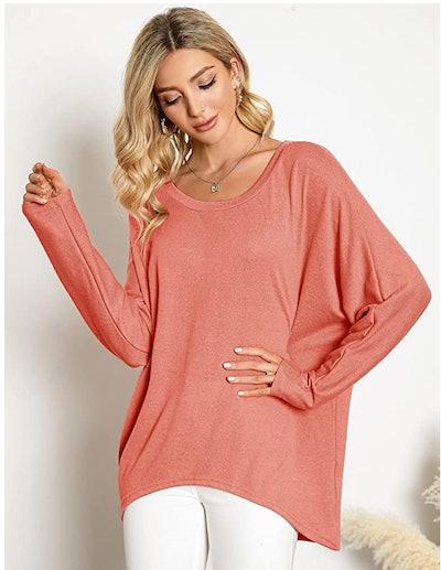 ZANZEA Oversized Off Shoulder Sweater