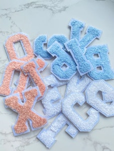 Chenille Embroidered Letters