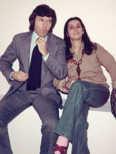 Jack and Joan at a gallery opening, 1977.