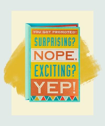 Not Surprising Promotion Congratulations Card