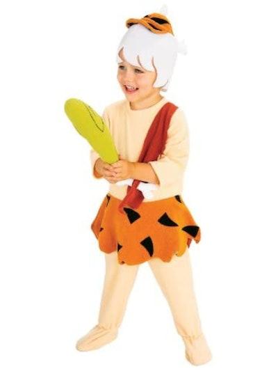 Toddler boy dressed as BAMM BAMM from The Flintstones