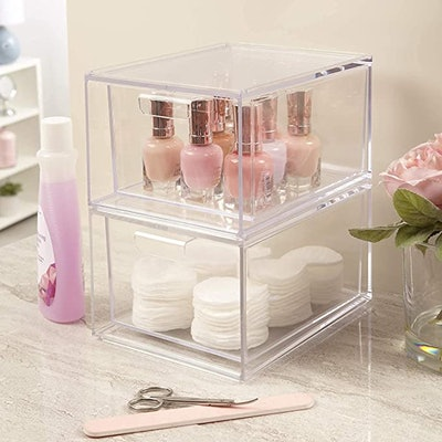 STORi Audrey Stackable Cosmetic Organizer (2-Pack)