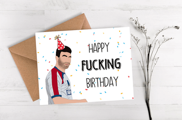 This Roy Kent card is just one of the many 'Ted Lasso' birthday cards on Etsy.