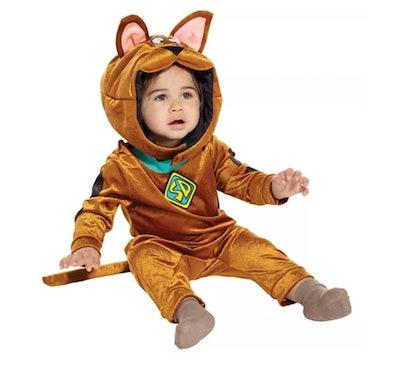 Baby dressed in Scooby Doo costume
