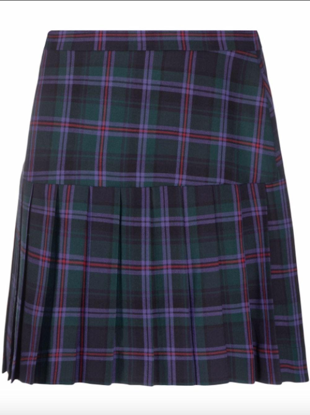 Summer Checked Pleated Kilt Skirt