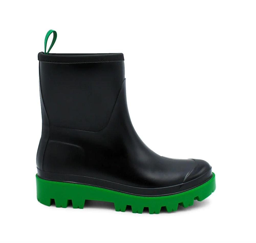 Contrast-Sole Rain Boots