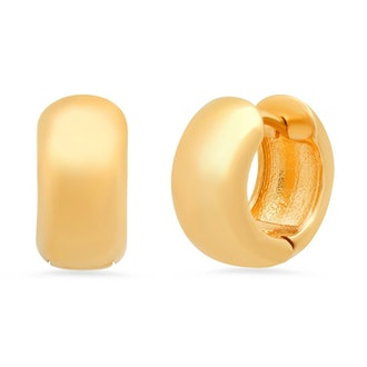 12MM Chubby Hinged Huggie earrings from TAI Jewelry.