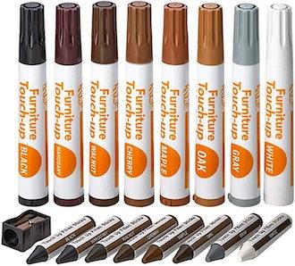Katzco Furniture Repair Kit Wood Markers (17-Piece)