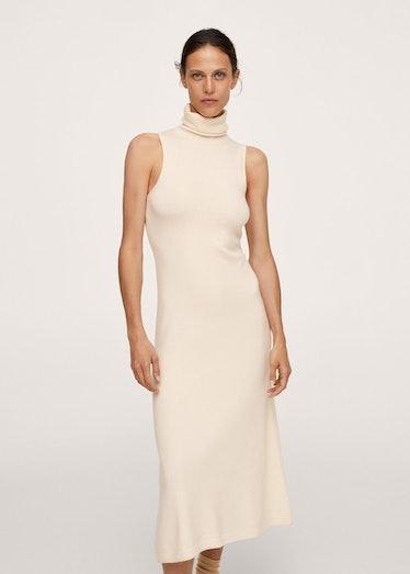 Knitted Turtleneck Dress