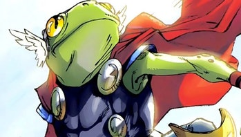 Throg strikes a heroic pose in Lockjaw and the Pet Avengers Vol. 1 #1
