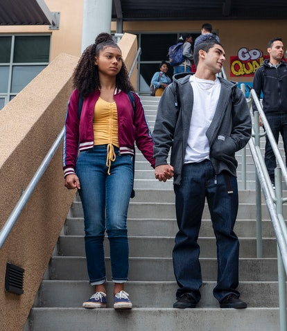 The cast of Netflix's 'On My Block' head to class.