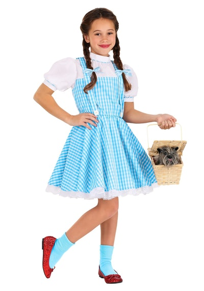 Young girl dressed in Dorothy costume
