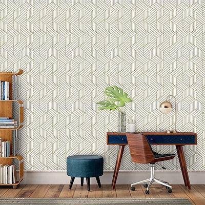 Wenmer Geometric Hexagon Peel-and-Stick Wallpaper