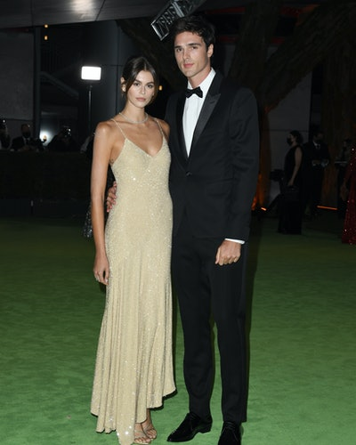 Kaia Gerber and Jacob Elordi attend The Academy Museum Of Motion Pictures Opening Gala at Academy M...