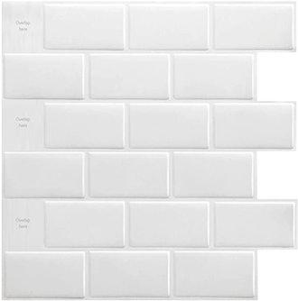 Art3d 10-Sheet Peel and Stick Tile Backsplash Tiles
