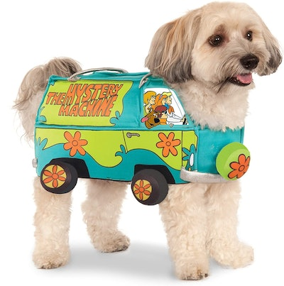 """Dog dressed as The Mystery Machine from """"Scooby Doo"""""""
