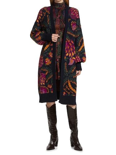 Brazil Wool-Blend Long Cardigan