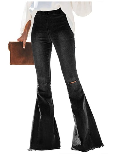 Sidefeel Distressed Flare Jeans
