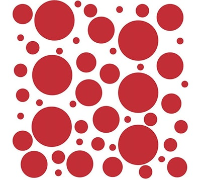 red vinyl polka dot stickers