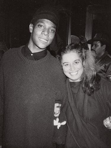 Quinn with Jean-Michel Basquiat, New York, 1985.