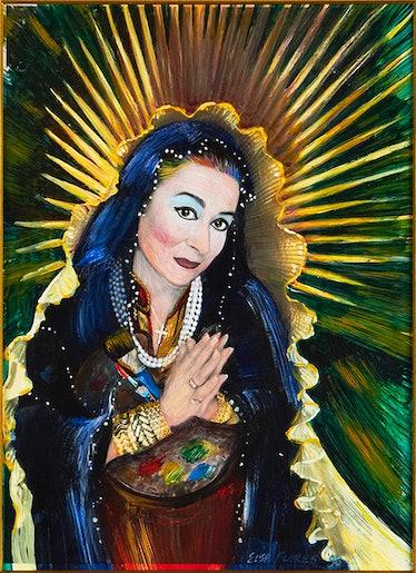 Elsa Flores, Nuestra Señora Joan Agajanian Quinn Santísima Patrona de los Artistas del Pueblo de Los...