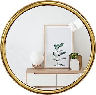 RUIDOZ Round Gold Wall Mirror