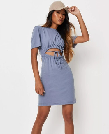 Olivia wears a light blue dress with cutouts on 'The White Lotus.'