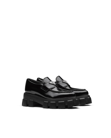 Monolith Brushed Leather Pointed Loafers