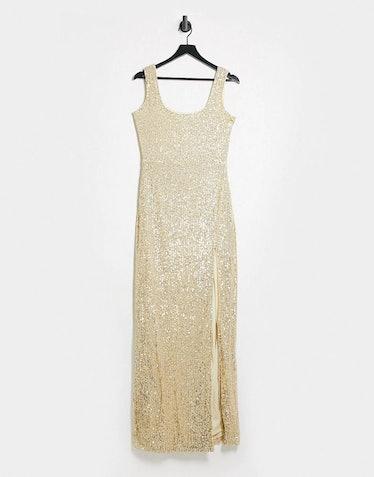 Club L London Sequin Maxi Dress