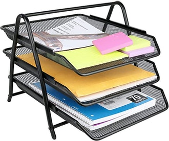 Greenco Mesh 3 Tier Desk Organizer