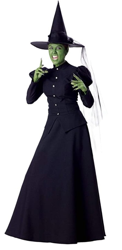Adult woman dressed as Wicked Witch of the West