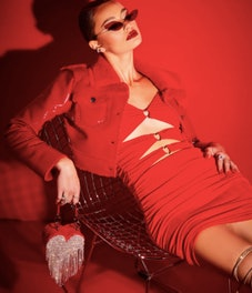 Poster Grl Ripe 'N Ready Cutout Ruched Mini Dress