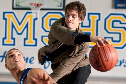 A still from 'The Amazing Spider-Man' with Peter Parker (Andrew Garfield) excelling at basketball wi...