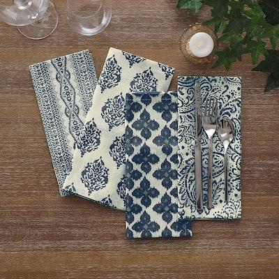 Elrene Assorted Prints Fabric Napkins